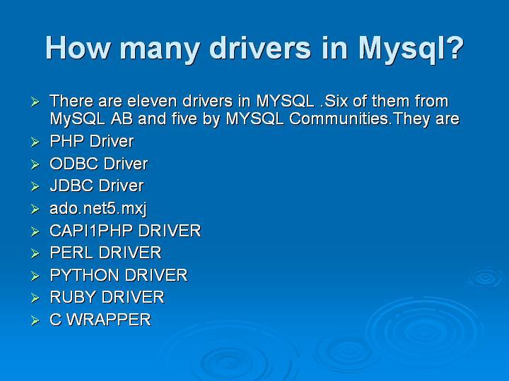 43_How many drivers in Mysql