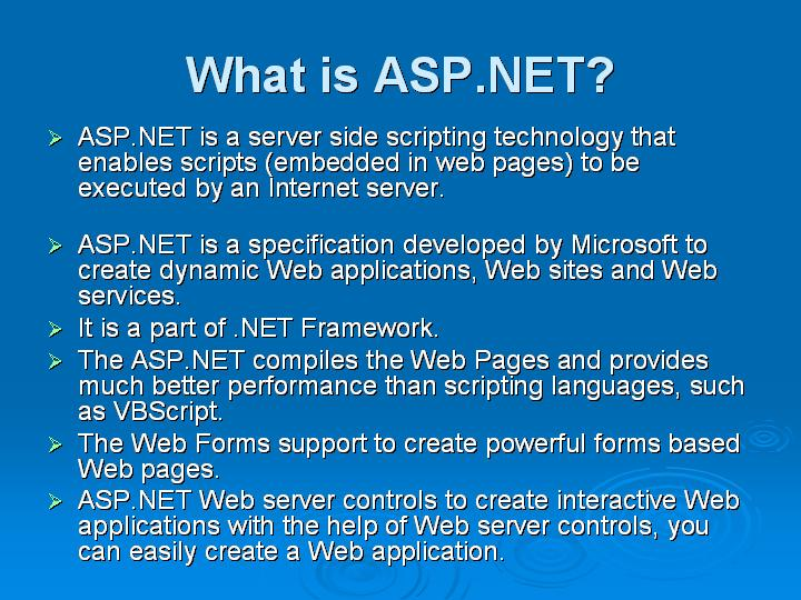 4_What is ASPNET