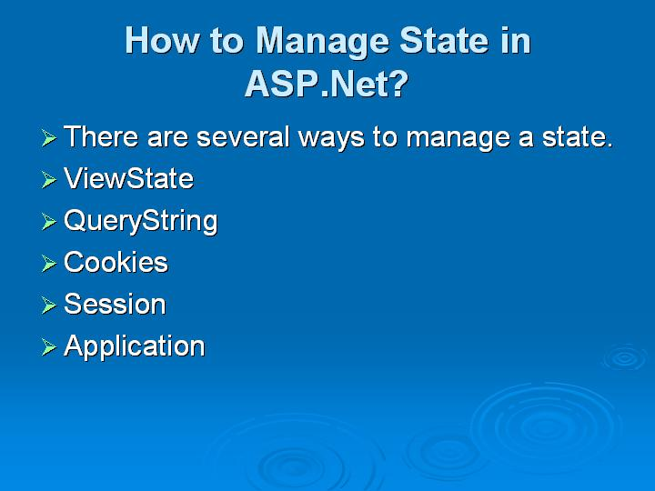 54_How to Manage State in ASPNet