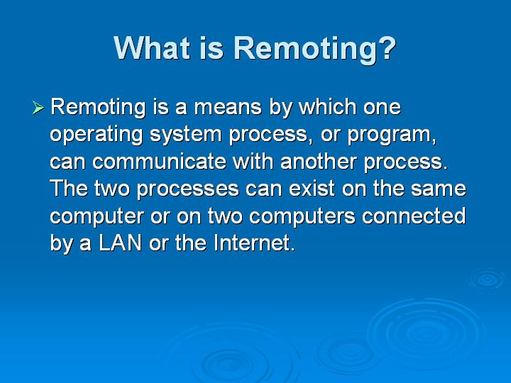 57_What is Remoting