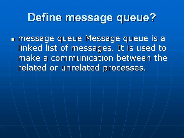 6_Define message queue