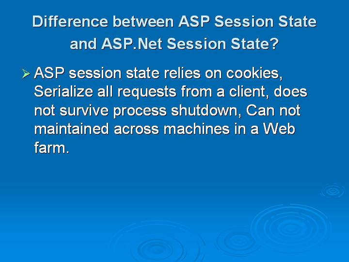 6_Difference between ASP Session State and ASPNet Session State