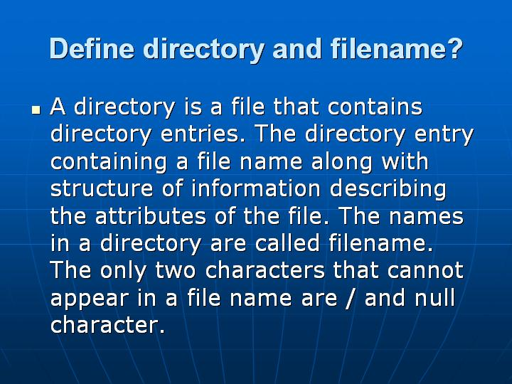 7_Define directory and filename