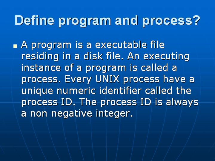 8_Define program and process