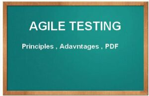 agile testing methodology principles tutorial