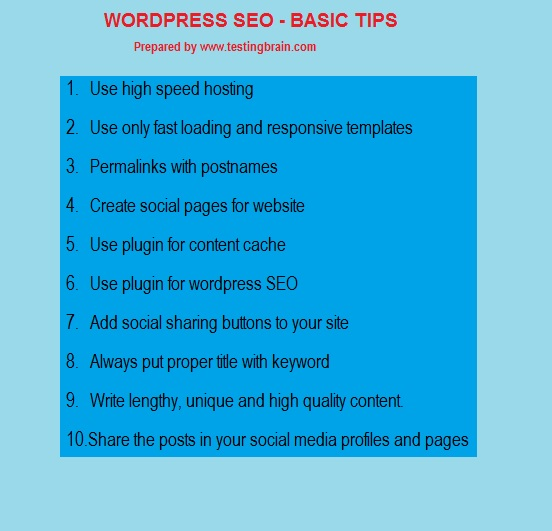 10 basic things to follow for better WordPress SEO , more visitors and revenue